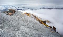 野三坡下雪了