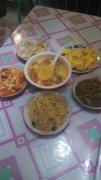 野三坡农家院 游客自己做的美食
